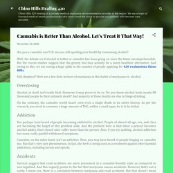 Cannabis is Better Than Alcohol. Let's Treat it That Way!