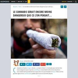 Le cannabis serait encore moins dangereux que ce l'on pensait...