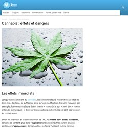 CANNABIS : effets et dangers
