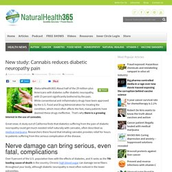 Cannabis reduces diabetic neuropathy pain