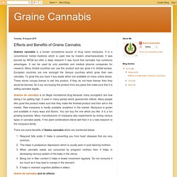 Graine Cannabis: Effects and Benefits of Graine Cannabis