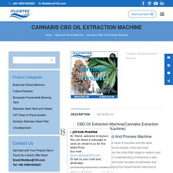 Cannabis CBD Oil Extraction Machine - Fluid Process Pro