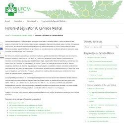 Cannabis Médical : Histoire et Législation