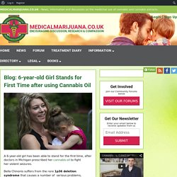 6-year-old Girl Stands for First Time after using Cannabis Oil - Medical Marijuana