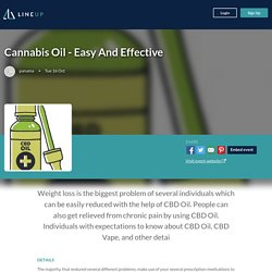 Cannabis Oil - Easy And Effective