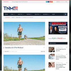 Cannabis As A Pre Workout - TNM NEWS