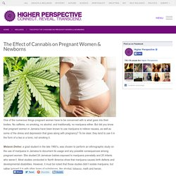 The Effect of Cannabis on Pregnant Women & Newborns