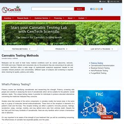 Cannabis Testing Methods
