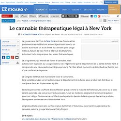 Le cannabis thérapeutique légal à New York