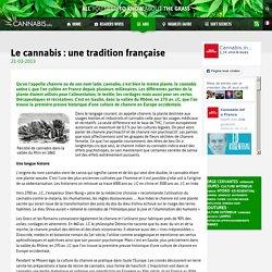 Le cannabis : une tradition française