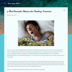 4 Best Cannabis Strains for Treating Insomnia