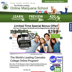 Marijuana School – Marijuana Certificate | Cannabis Training University