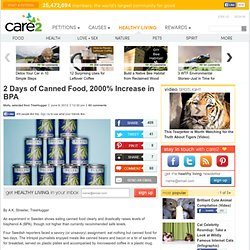 2 Days of Canned Food, 2000% Increase in BPA