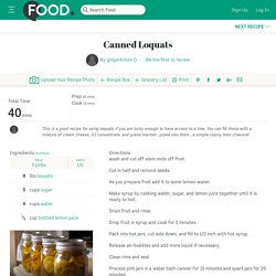 Canned Loquats Recipe