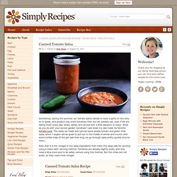 Canned Tomato Salsa Recipe