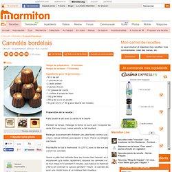 Cannelés bordelais - Recette de cuisine Marmiton : une recette