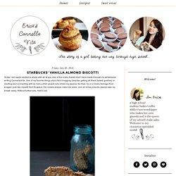 Cannella Vita: Starbucks' Vanilla Almond Biscotti