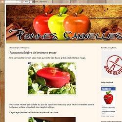 Pannacotta légère de betterave rouge