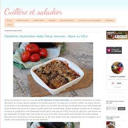 Cannellonis d'aubergine au tofu - Cuillère et saladier