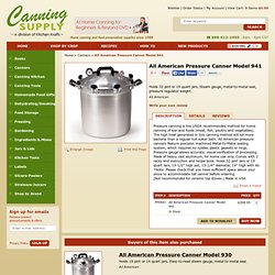 Canners - All American Pressure Canner Model 941