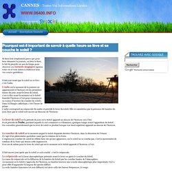 CANNES (06150, 06400) - Tous les Horaires de lever et coucher de Soleil