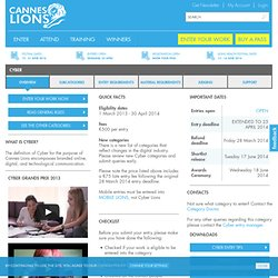 Cannes Lions Winners, Shortlists and Entries Listing: Cyber Lion