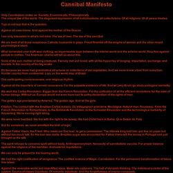 Cannibal Manifesto