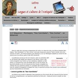 """1/2 Séquence : Montaigne, """"Des Cannibales"""", """"Des Coches"""" - en distanciel - [Lettres & Langues et Cultures de l'Antiquité]"""