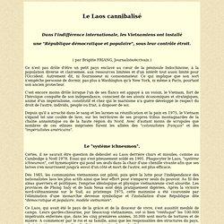 Le Laos cannibalisé (par Brigitte Friang)