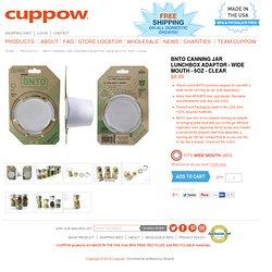 BNTO Canning Jar Lunchbox Adaptor - Wide Mouth - 6oz - Clear - Cuppow!