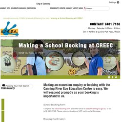 City of Canning - Making a School Booking at CREEC