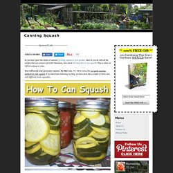 Canning Squash