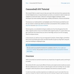 Cannonball iOS Tutorial — Fabric iOS documentation