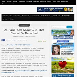 25 Hard Facts About 9/11 That Cannot Be Debunked
