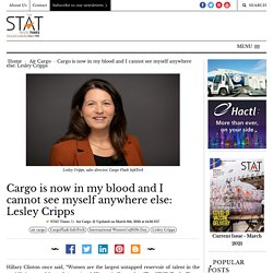 Cargo is now in my blood and I cannot see myself anywhere else: Lesley Cripps