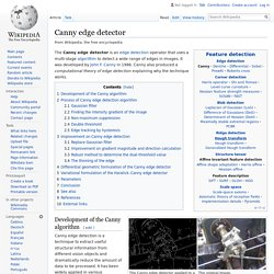 Canny edge detector - Wikipedia