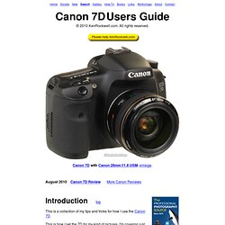 Canon 7D User's Guide