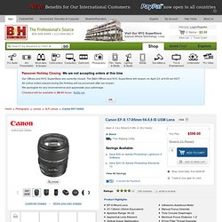 Canon EF-S 17-85mm f/4-5.6 IS USM Lens 9517A002 B