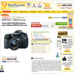 Canon EOS 70D DSLR Camera with 18-55mm STM f/3.5-5.6 Lens - Fumfie.com