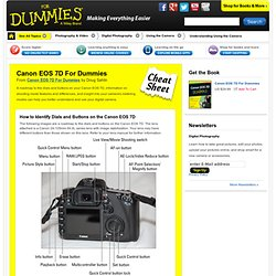 Canon EOS 7D For Dummies Cheat Sheet