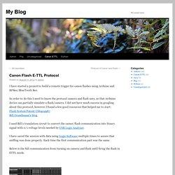 Canon Flash E-TTL Protocol