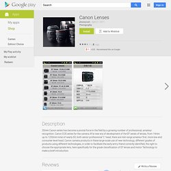Canon Lenses - Android Market