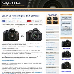 Canon vs Nikon Digital SLR Cameras