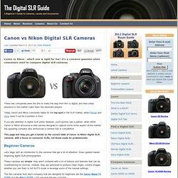 Canon vs Nikon Digital SLR Cameras