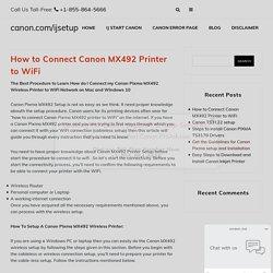 Guide to pixma mx492 wifi setup