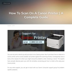 How To Scan On A Canon Printer
