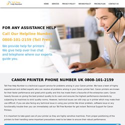 Canon Printer Help UK 0808-101-2159 Canon Printer Helpline Number UK