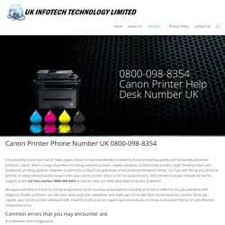 Canon Printer Support Phone Number UK