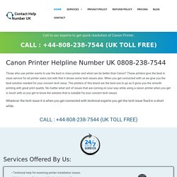 Canon Printer Help Number 0808-238-7544