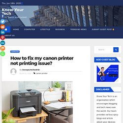 How to fix my canon printer not printing issue? Canon Printer Setup